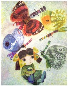 Jan Kudláček - Animalarium: Basking in the Light Children's Book Illustration, Book Illustrations, Butterfly Books, My Favorite Image, Some Pictures, Cartoon Characters, Childrens Books, Fairy Tales, Concept Art