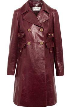 Valentino | Leather coat | NET-A-PORTER.COM