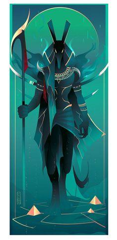 Anubis ~ Egyptian Gods by Yliade on DeviantArt Mythology Art, Character Design, Character Art, Illustration, Egyptian Art, Art, Mythology, Digital Artist, Anubis