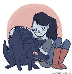 Marceline (Adventure Time) Emily Partridge Draws Regal Beasts, Webcomic Fanart And Pokemon [Art]