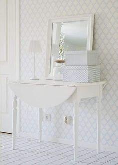 Kitchen Wallpaper, Wall Wallpaper, White Heaven, Small Studio Apartments, My Ideal Home, Bedroom Wardrobe, Diy House Projects, Scandinavian Home, Decor Interior Design
