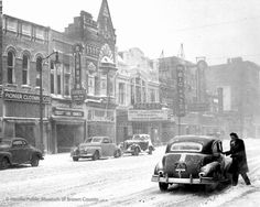 "North Washington Street   ""The Big Sleep,"" starring Humphrey Bogart and Lauren Bacall, was the feature film at the Packer Theater in this 1946 photograph. Later known as The Pix, the theater was located at 310 North Washington Street."