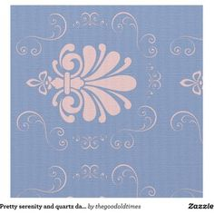 Pretty serenity and quartz damask patterned fabric Rose Quartz Serenity, Color Of The Year, Pantone Color, Fabric Patterns, Damask, Home Improvement, Year 2016, Aud, Pretty