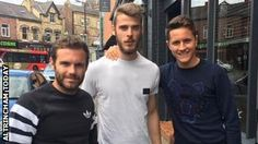 Manchester United trio Juan Mata, David de Gea and Ander Herrera