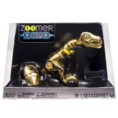 LIMITED EDITION SPIN MASTER ZOOMER DINO METALLIC GOLD ONLY 5,000 MADE SEALED #SpinMaster #Buydirectincstore
