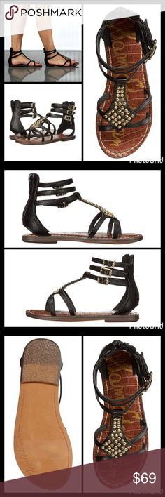 """""""STUDDED"""" GLADIATOR WRAP SANDAL Wrap your feet in luxurious beauty in these gladiator sandals! ▪️Manmade upper with studded and snakeprint details ▪️Open-toe, caged silhouette ▪️Thong design ▪️Zipper at heel and triple buckle closure at ankle. ▪️Manmade lining and lightly padded footbed for added comfort ▪️Synthetic sole  🛍 2+ BUNDLE=SAVE  ‼️NO TRADES--NO HOLDS--NO MODELING  💯 Brand Authentic  ✈️ Ship Same Day--Purchase By 2PM PST  🖲 USE BLUE OFFER BUTTON TO NEGOTIATE Sam Edelman Shoes…"""