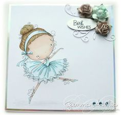 Handmade by Gem: All Dressed up - Abi the ballerina!