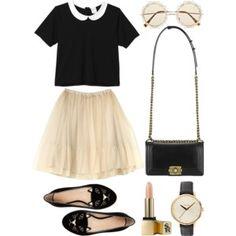 Untitledlovely skirt and black blouse