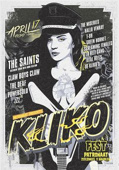 GigPosters.com - De Kliko - Saints, The - Miseries, The - Deaf, The - Claw Boys Claw - Powersolo - Zzz - Hallo Venray - T-99 - Green Hornet - Screaming Females - La Hell Gang - Total Heels