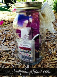 DIY Jamicure in a Jar is perfect for teachers gifts or donating for a school fundraiser!
