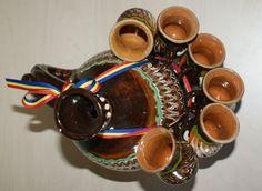 Serviciu ceramica tuica mama si copiii, de la Horezu