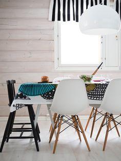 VÄHÄN VÄRIÄ Dining Chairs, Dining Table, Nordic Design, Marimekko, Season Colors, Interior Inspiration, New Homes, Minimalist, House