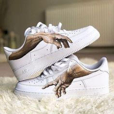 Nike / Luftwaffe - Schoenen - - Nike / Air Force - Schoenen - How should the selection of shoes be? Nike Air Force, Custom Painted Shoes, Custom Shoes, Luftwaffe, Tenis Nike Casual, Custom Af1, Reflective Shoes, Painted Sneakers, Aesthetic Shoes