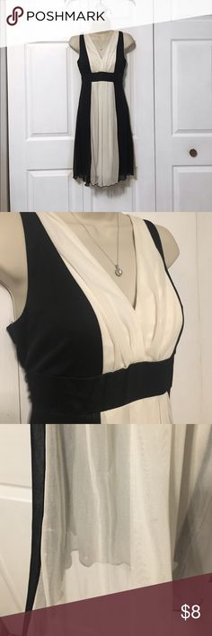 Black and White dress This dress has been very well worn. There is starting get to snags in the fabric (shown in picture). Other than that there is no other damage. Let me know if you have any questions Charlotte Russe Dresses Mini