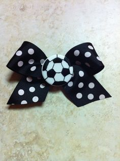 soccer bow by BradshawBowTique on Etsy, $7.00