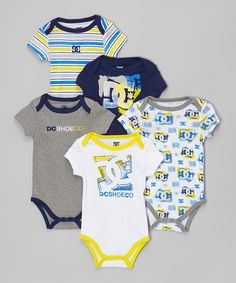 Look at this DC Navy & Gray Logo Bodysuit Set - Infant on #zulily today!