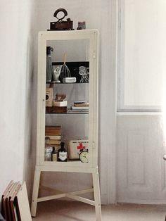 "FABRIKOR cabinet $200 22 1/2 x 59"" top shelf: daily toiletries middle shelf: towels and washcloths bottom shelf: hair dryer/curling iron in box"