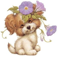 Sherry Lipscomb uploaded this image to 'Morehead Animals'. See the album on Photobucket. Illustration Mignonne, Dog Illustration, Cute Drawings, Animal Drawings, Baby Animals, Cute Animals, Art Mignon, Fabric Painting, Dog Art