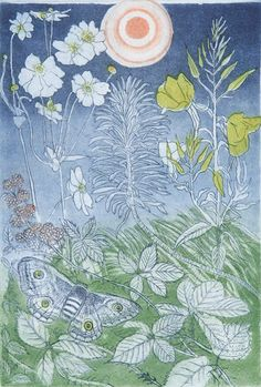 'Harvest Moon' by Richard Bawden (etching and aquatint) Gypsy Living, Grain Of Sand, Insect Art, Harvest Moon, People Art, Travel Style, Celtic, Watercolor, Gallery