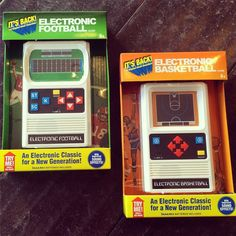 Ohhhh yeah. Raise your hand if you remember these?!? Now THIS is a handheld game!  #retro #football #basketball #logansquare