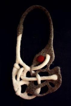 Felted jewelry by Adina Marin