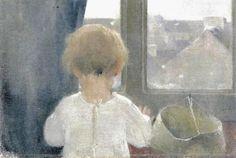 Helene Schjerfbeck The Neck of a Little Girl Much like the unmarried Mary Cassatt, single Finnish artist Helene Schjerfbeck. Helene Schjerfbeck, Little Girl Dancing, Little Girls, Abstract Images, Claude Monet, Vincent Van Gogh, Art Pictures, Art For Kids, Illustration Art