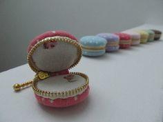 Macaroon Linen Trinket Box, Jewellery Box, Keepsake Boxes, Handphone Charm, Bag Charm. $10.00, via Etsy. - cute little bridesmaid gift with jewelry inside.