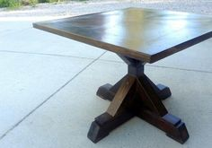 X Base Pedestal Table | Do It Yourself Home Projects from Ana White