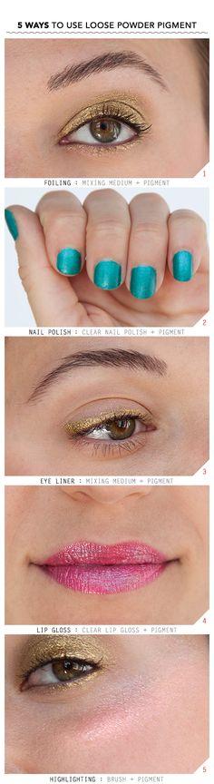 5 Ways to Use Loose Pigments! | Beautylish
