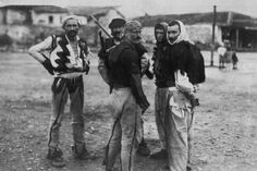 Balkan Wars. Albanian fighters ready for a battle with Serbian forces in a photograph dated from 1912.