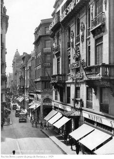 1929 - Rua São Bento, a partir da praça do Patriarca. Foto de Theodor Preising. Acervo Instituto Moreira Salles.