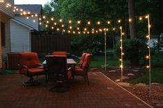 Garden Patio Lights - Types Of Patio Lights Backyard Patio Diy Patio Backyard 32 Backyard Lighting Ideas How To Hang Outdoor String Lights 32 Backyard Lighting Ideas How To. Fire Pit Backyard, Backyard Patio, Backyard Landscaping, Landscaping Ideas, Backyard Lighting, Outdoor Lighting, Outdoor Decor, Lighting Ideas, Lights In Backyard