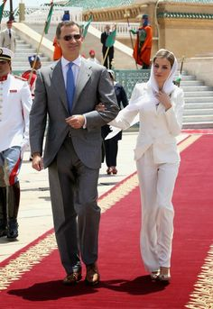 King Felipe and Queen Letizia of Spain in Rabat, Morocco July 15, 2014