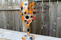 NFL Inspired Personalized Wine Glass 20 oz Football by ahindle78, $10.00
