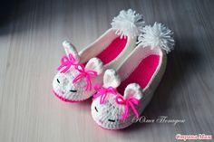 *Тапочки-зайчики для девочки
