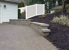 Image result for retaining wall from front driveway