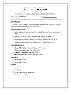 Easy Resume Brilliant 7 Best Basic Resume Examples Images On Pinterest  Sample Resume