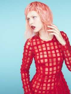 Be pretty in strawberry pink. #AvedaColor by Ian Michael Black for American Salon magazine.