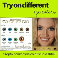 Life is all about embracing color and experimenting! Have you tried out our AIR OPTIX® COLORS Color Studio?   Don't forget! You need to have a prescription to wear AIR OPTIX® COLORS contact lenses. Don't sleep in these lenses, and don't share them with your friends. Ask your eye doctor for complete wear, care and safety information.