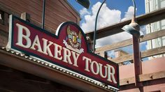 Sign above the entrance to The Bakery Tour – Hosted by Boudin Bakery