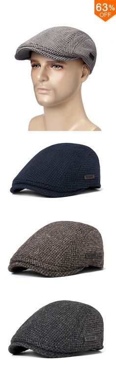 ccf2f72d3d8 Free Shipping  amp New Fashion Unisex Men s Cotton Wool Gatsby Beret Cap  Golf Driving Flat