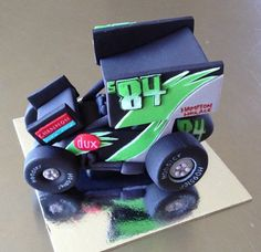 Sprint Car Cake Topper edible fondant icing by NicolePeglerCakeArt, $40.00