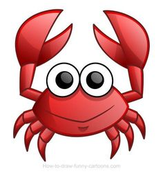 Cartoon Drawing Ideas Learn how to draw a cute cartoon crab! :) - In this drawing lesson, let's learn how to draw a crab drawing made of simple shapes and bright colors! Cartoon Drawings, Easy Drawings, Animal Drawings, Crab Cartoon, Seahorse Cartoon, Crab Art, Pet Rocks, Learn To Draw, Stone Painting