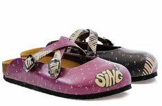 """Purple & Sing Clog"" Sandals #sandals #WomenSandals #OnlineSell #FlipFlop #FlipFlops #clog #shoe #sandal #GobyShoes #goby"