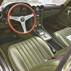 The Nardi wheel almost works here but that radio with blister pack buttons is harshing my mellow. Mercedes Benz R Class, Mercedes Slc, Mercedes W123, Mercedes Interior, Mustang Cars, Interior Ideas, Classic Cars, Motorcycles, Capri