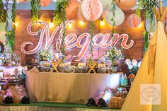 Get your camping outfits ready darlings, because we're going camping... indoors!Party Deco brought a bohemian outdoor set for Megan's birthday party, complete with pink teepees and lots of pillows! So chic, right? Jackie Martinez of Crafty Cakes and Cupcakes made sure there's more than just s'mores to indulge your sweet tooth. Thanks to Tyron Cruz…