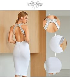 Color : White Material : Spandex, Polyester Neckline : O-Neck Pattern Type : Solid The post Club Dress Sexy Backless Sequined Hot Celebrity Party Bodycon Dresses appeared first on TD Mercado. Girls Party Dress, Party Dresses For Women, Club Dresses, Sexy Dresses, Girls Dresses, Fashion Wear, Star Fashion, Fashion Dresses, Bodycon Dress Parties