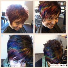 """Oil slick"" hair #pravanavivids #monat #rejuveniqeoil"