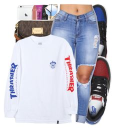 """"""""""" by glowithbria ❤ liked on Polyvore featuring NIKE and HUF"""