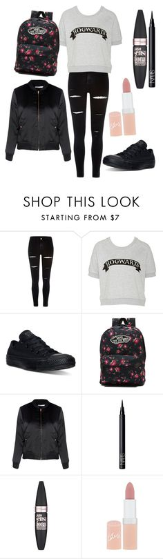 """Untitled #32"" by evalia1291 on Polyvore featuring River Island, Converse, Vans, Glamorous, NARS Cosmetics, Maybelline and Rimmel"